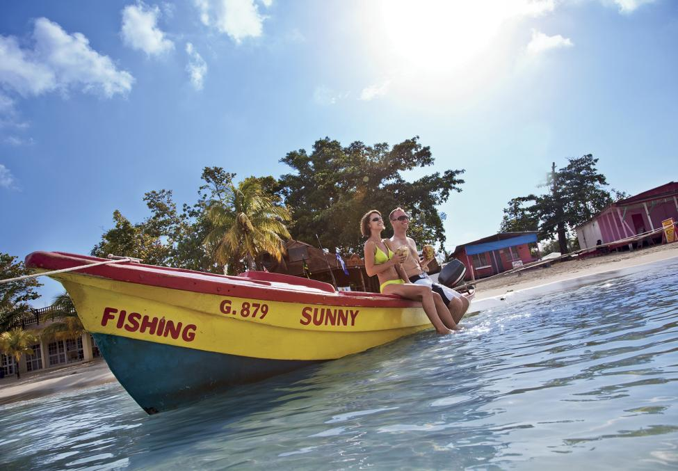 1. Relaxing on a boat at Treasure Beach Jamaica copy
