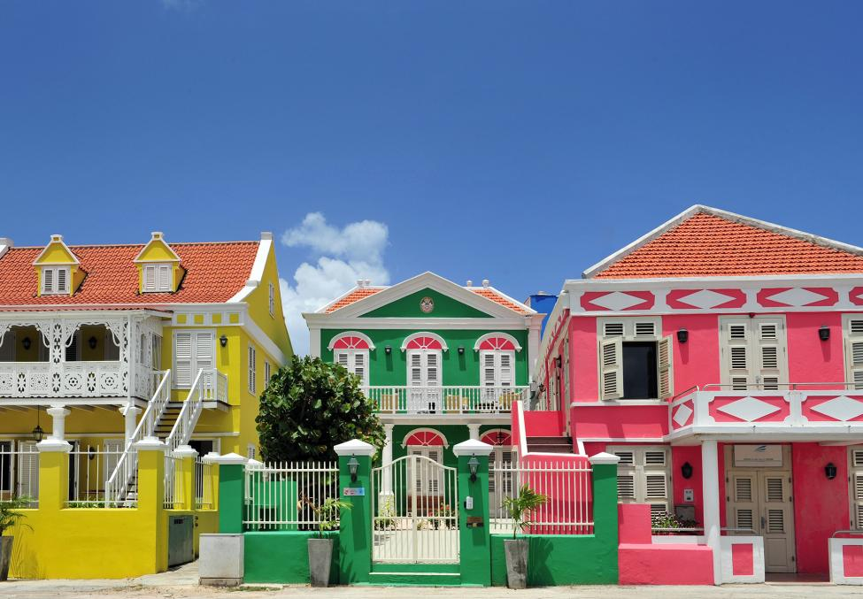 Architecture Pietermaai coloured houses Curacao 01 copy